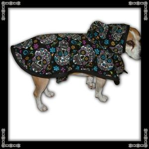 Jackets & Blazers - Sugar Skull Hooded Dog Cape/Coat
